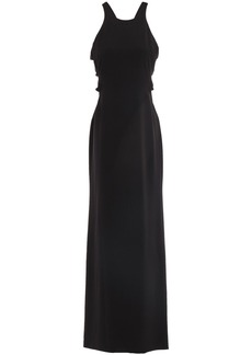 Halston Heritage Woman Cutout Twisted Stretch-crepe Gown Black