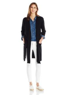 Halston Heritage Women's 3/4 Sleeve Long Cardigan Sweater  XS