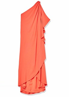 Halston Heritage Women's Asymmetric Solid Gown