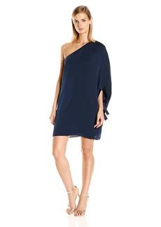 HALSTON HERITAGE Women's Asymmetrical Sleeve Mini Dress