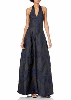Halston Heritage Women's Ball Jacquard Gown