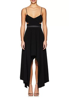 Halston Heritage Women's Cutout Crepe Sleeveless Dress