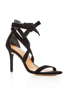 HALSTON HERITAGE Women's Diana Suede Ankle Tie High Heel Sandals