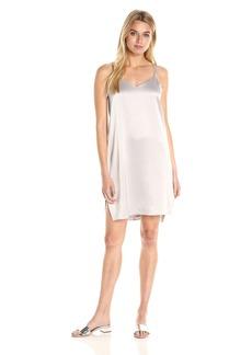Halston Heritage Women's Double Strap Satin Slip Dress  S