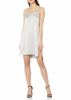 Halston Heritage Women's Double Strap Satin Slip Dress  L