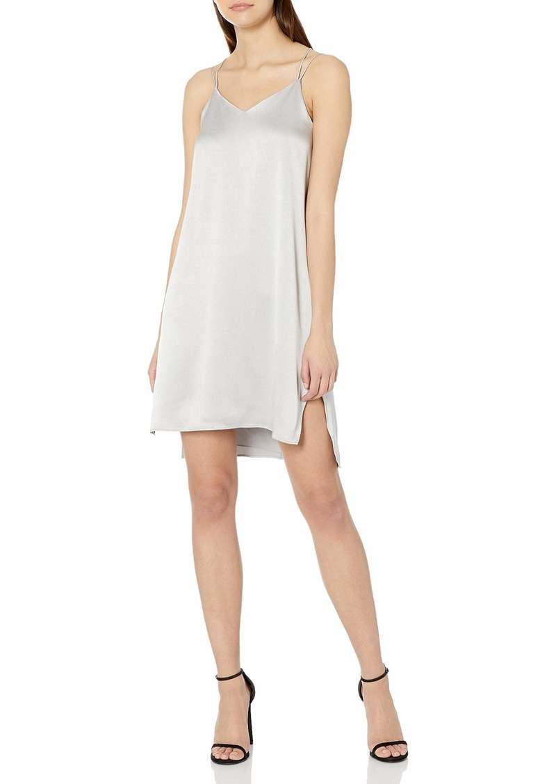 Halston Heritage Women's Double Strap Satin Slip Dress  L