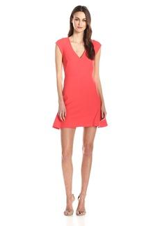HALSTON HERITAGE Women's Drop waist V-Neck Structured Dress