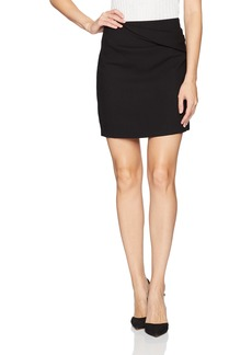 Halston Heritage Women's Faux Wrap Draped Mini Skirt