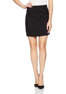 Halston Heritage Women's Faux Wrap Draped Mini Skirt