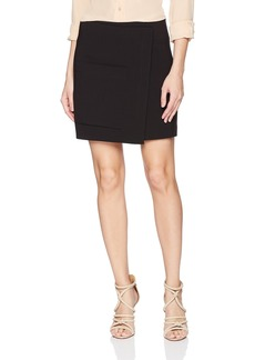 Halston Heritage Women's Faux Wrap Mini Skirt