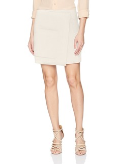 Halston Heritage Women's Faux Wrap Mini Skirt
