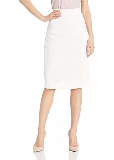 Halston Heritage Women's Fitted Crinkle Crepe Midi-Skirt