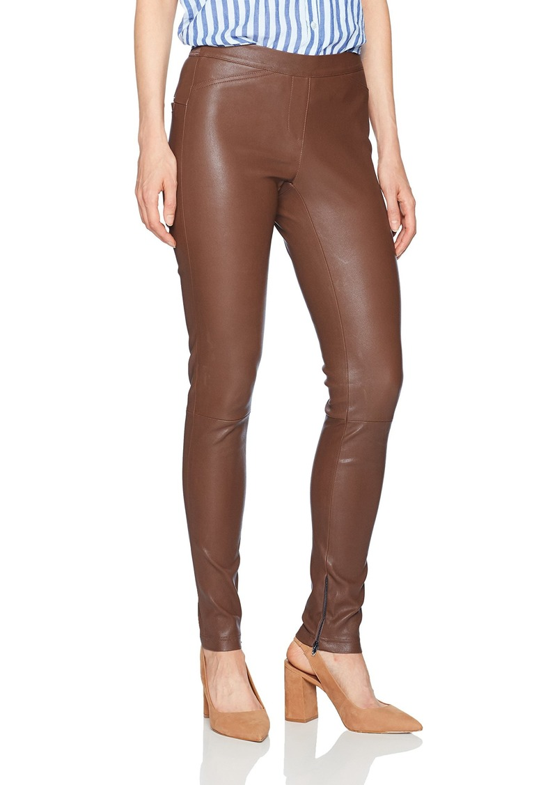 Halston Heritage Women's Fitted Stretch Leather Leggings