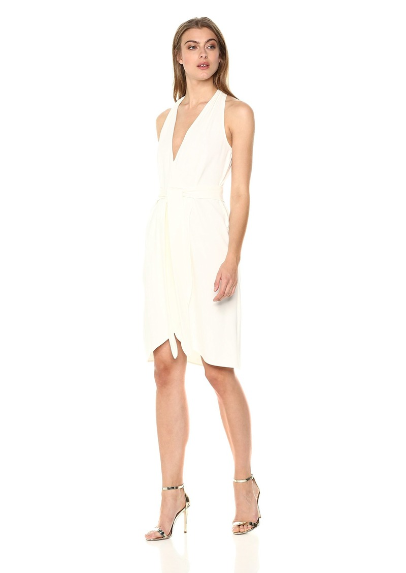 Halston Heritage Women's Halter Belted Wrap Dress