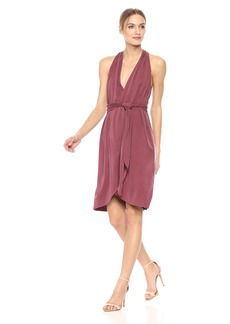 Halston Heritage Women's Halter Belted Wrap Dress