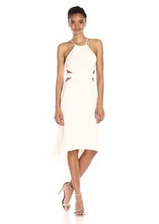 Halston Heritage Women's Halter Dress With Back Cut Outs