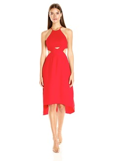 HALSTON HERITAGE Women's Halter Dress with Cut Out Detail