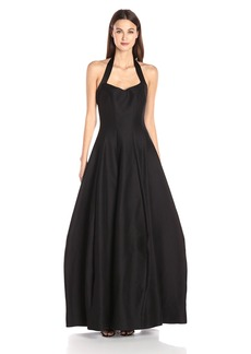 HALSTON HERITAGE Women's Halter Neck Structured Gown