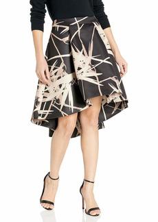 Halston Heritage Women's Hi-lo Structure Skirt