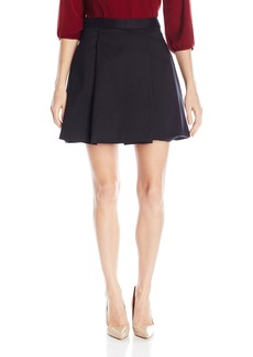 Halston Heritage Women's High Waisted Structured Skirt