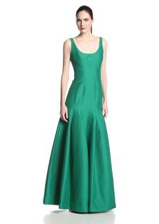 Halston Heritage Women's Jacquard Tulip Hem Evening Gown