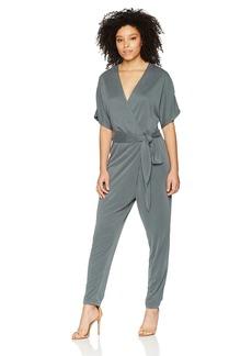 Halston Heritage Women's Kimono Sleeve V Neck Jumpsuit  Extra Large