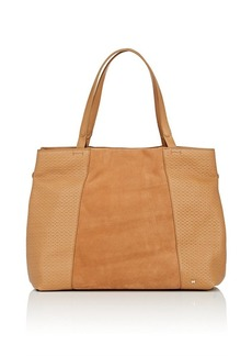 Halston Heritage Women's Large Suede & Leather Tote Bag - Camel