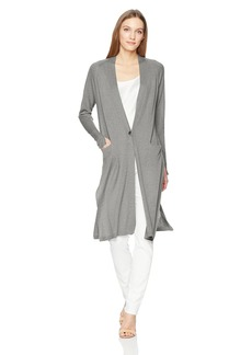 Halston Heritage Women's Long Sleeve Duster Cardigan with Side Slits