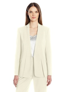 HALSTON HERITAGE Women's Long Sleeve Jacket with Notch Detail  M