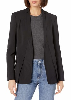 HALSTON HERITAGE Women's Long Sleeve Jacket with Notch Detail  L