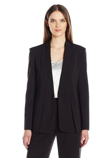HALSTON HERITAGE Women's Long Sleeve Jacket with Notch Detail  S