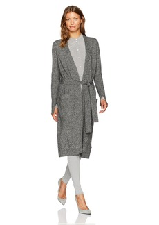 Halston Heritage Women's Long Sleeve Open Front Duster Cardigan with Sash  M
