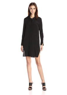 HALSTON HERITAGE Women's Long Sleeve Shirtdress with Wide Cuff