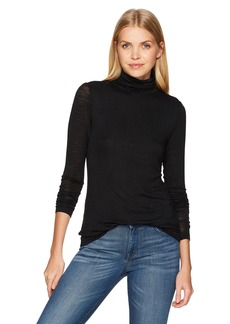 Halston Heritage Women's Long Sleeve Turtleneck Slim Tee  M