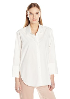 Halston Heritage Women's Long Sleeve Wide Cuff Cotton Shirt