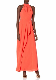 Halston Heritage Women's Mock Neck Gown