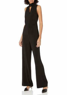 Halston Heritage Women's Mock Neck Jumpsuit