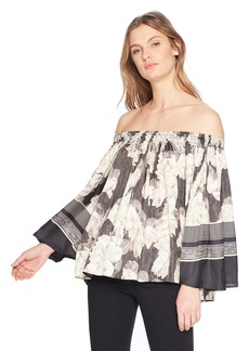 Halston Heritage Women's Off Shoulder Flowy Top