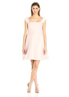HALSTON HERITAGE Women's Off Shoulder Silk Faille Dress