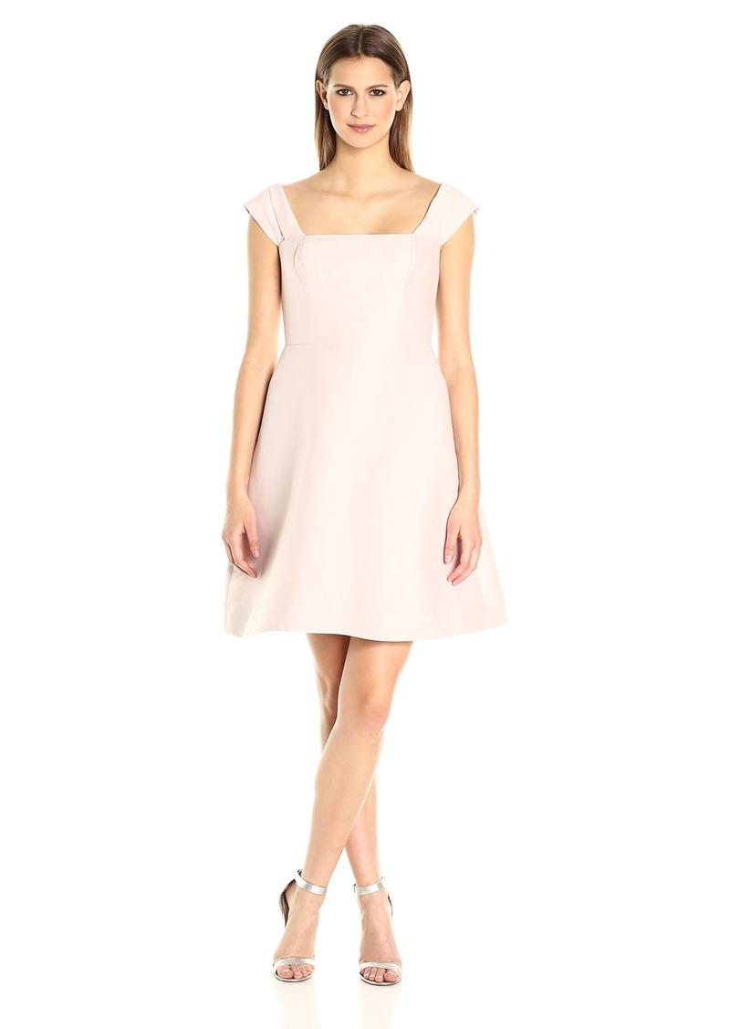 Halston Heritage Women's Off Shoulder Silk Faille Dress