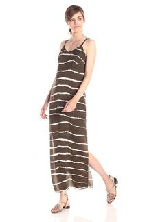 HALSTON HERITAGE Women's Ombre Striped Maxi Dress