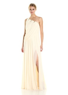 Halston Heritage Women's One Shoulder Draped Jersey Gown  M