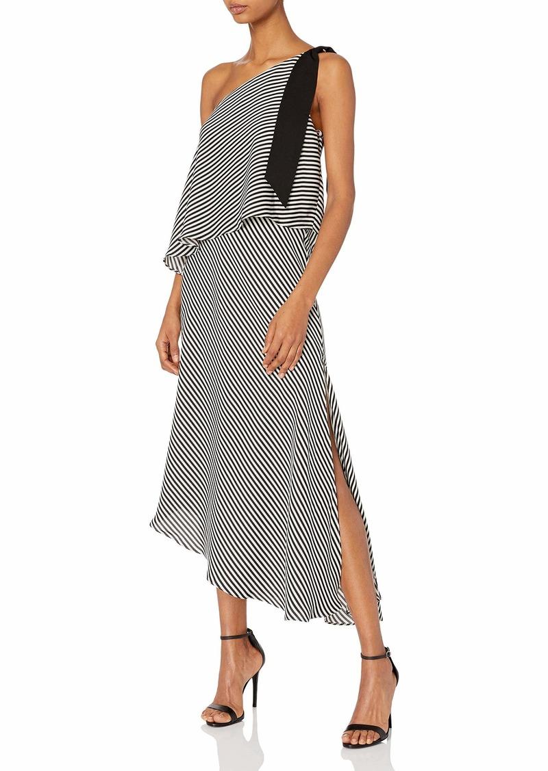 Halston Heritage Women's One Shoulder Flowy Dress  XL