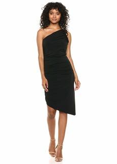 Halston Heritage Women's ONE Shoulder Ruched Jersey Dress