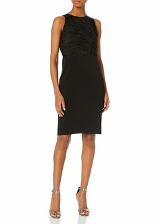 Halston Heritage Women's Pencil Ruched Detail Dress