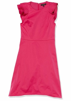 Halston Heritage Women's Ruffle Sleeve Dress