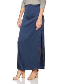 Halston Heritage Women's Satin Maxi Skirt with Slit