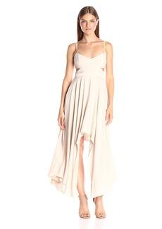 HALSTON HERITAGE Women's Scoop Neck Dress with Hi-Lo Asymmetrical Skirt