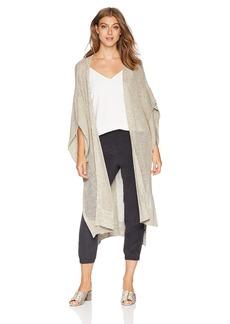 Halston Heritage Women's Short Sleeve Kaftan Cardigan Sash  Extra Large