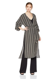 Halston Heritage Women's Short Sleeve Long Kimono Jacket  Extra Large